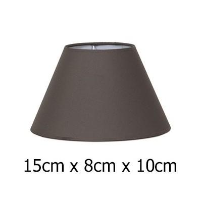 Pantalla Cotonet marrón cónica 15 cm para lámpara