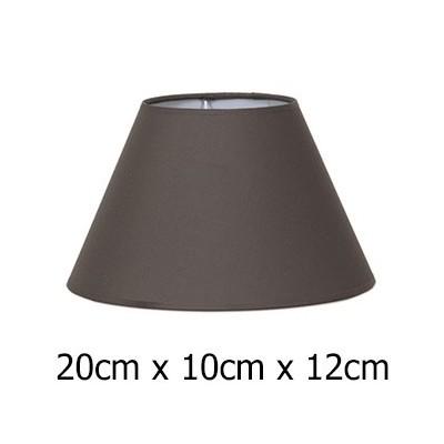 Pantalla lámpara cónica en Cotonet marrón 20 cm