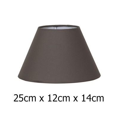 Pantalla de lámpara en color marrón con forma cónica de 25 cm