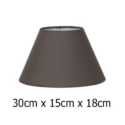 Pantalla lámpara 30 cm tejido Cotonet en color marrón
