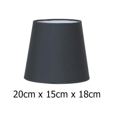 Pantalla tejido Cotonet color plomo 20 cm