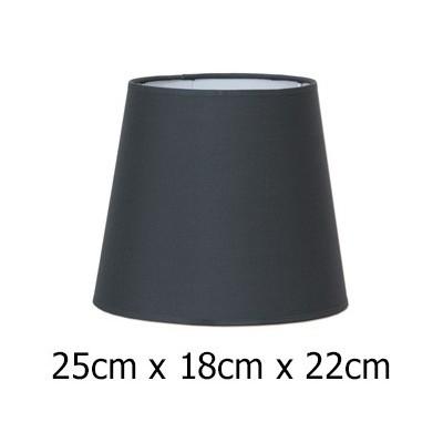Pantalla normal alta tejido Cotonet en tono plomo 25 cm