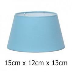 Pantalla azul claro para lámpara en tejido Cotonet de 15 cm