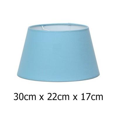Pantalla de lámpara en color azul claro con forma cónica abierta de 30 cm