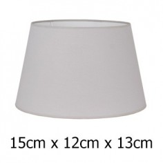 Pantalla para lámpara tejido Cotonet en gris claro de 15 cm