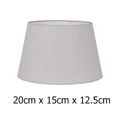 Pantalla de lámpara Cotonet en gris claro cónica abierta de 20 cm