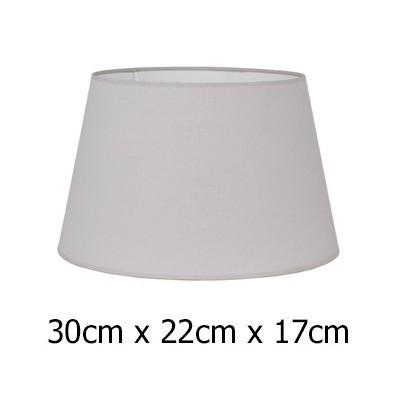 Pantalla para lámpara gris claro en tejido Cotonet de 30 cm
