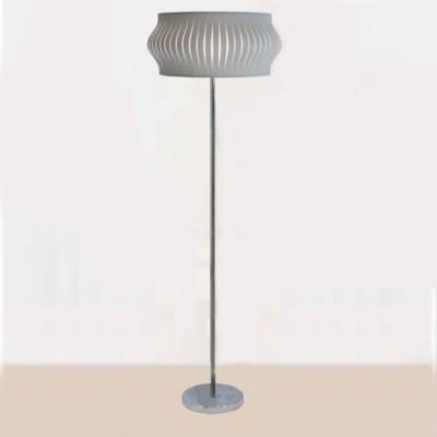 Lámpara de pie Felicia con pantalla tiras en gris oscuro