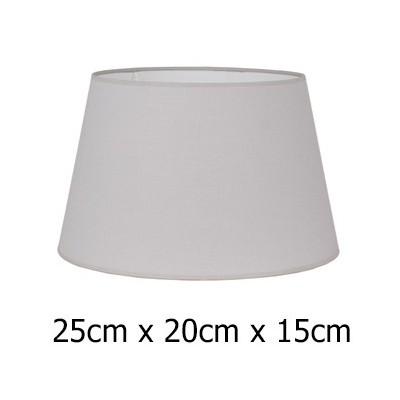 Pantalla lámpara en gris claro tejido Cotonet de 25 cm