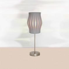 Lámpara de sobremesa Felicia con pantalla de tiras en gris oscuro