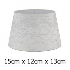 Pantalla de lámpara Alba en blanco roto cónica abierta de 15 cm