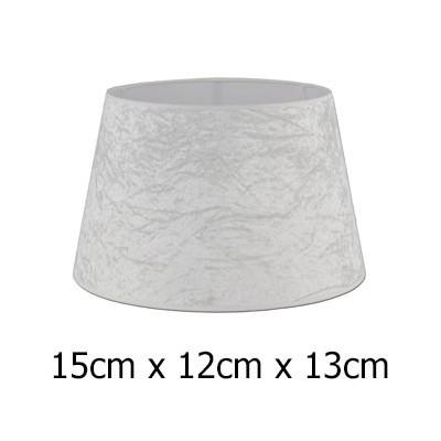 Pantalla de lámpara Alba en beige cónica abierta de 15 cm