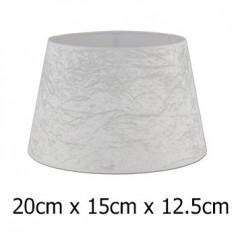 Pantalla para lámpara tejido Alba terciopelo blanco roto de 20 cm