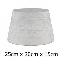 Pantalla lámpara Alba terciopelo blanco roto formato cónico abierto de 25 cm