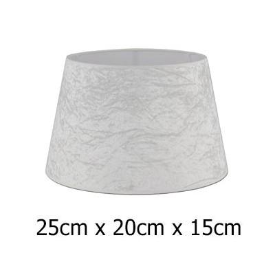 Pantalla lámpara Alba terciopelo beige formato cónico abierto de 25 cm