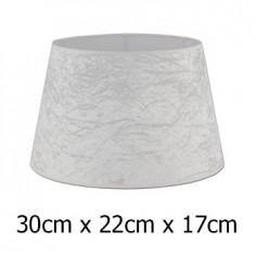 Pantalla para lámpara tejido Alba blanco roto aterciopelado de 30 cm