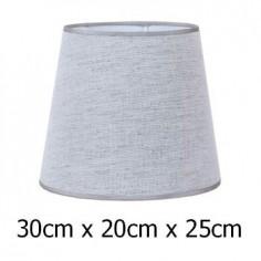 Pantalla para lámpara color gris en tejido Urano de 30 cm