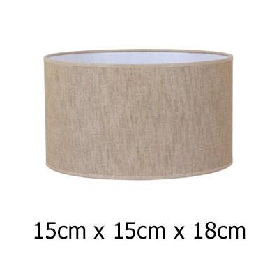 Pantalla para lámpara tejido Urano en marrón con forma cilíndrica de 15 cm