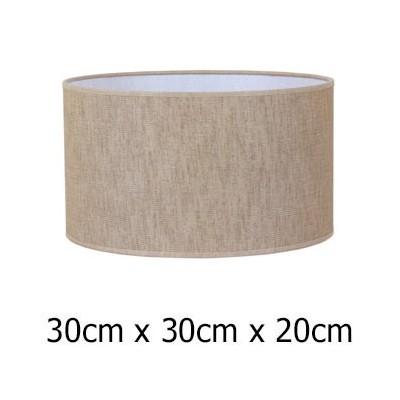 Pantalla para lámpara cilíndrica tejido Urano en color marrón de 30 cm