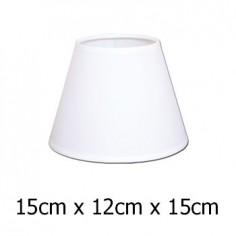 Pantalla para lámpara Raso plástico en color blanco de 15 cm