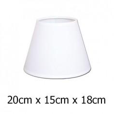 Pantalla de lámpara blanca en Raso plástico de 20 cm