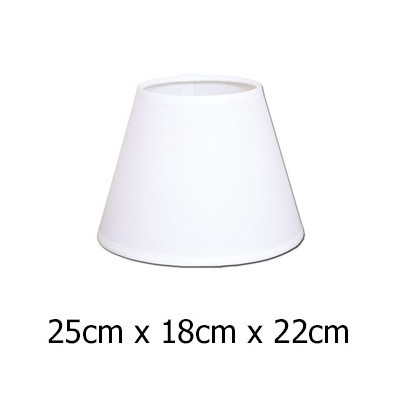 Pantalla de lámpara en blanco Raso plástico de 25 cm