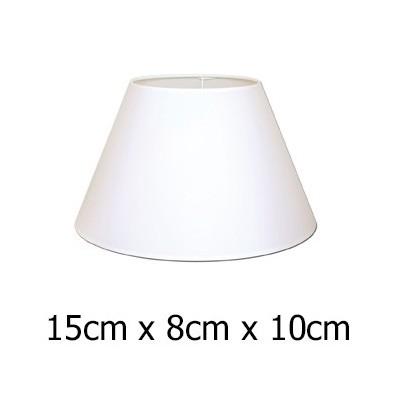 Pantalla de lámpara con forma cónica en color blanco de 15 cm