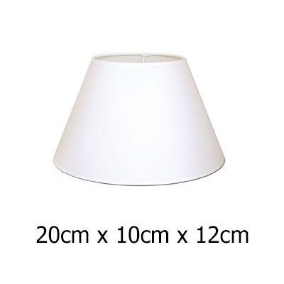 Pantalla para lámpara cónica blanca Raso plástico de 20 cm