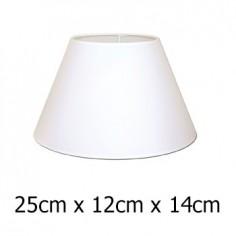 Pantalla de lámpara en blanco con forma cónica de 25 cm