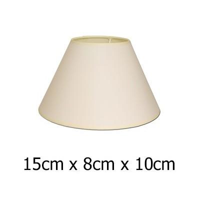 Pantalla para lámpara Raso plástico cónica en beige de 15 cm