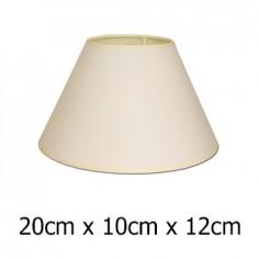 Pantalla lámpara beige con formato cónico de 20 cm