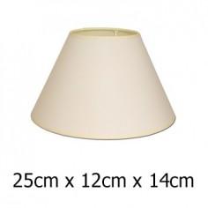Pantalla para lámpara con formato cónico en color beige de 25 cm