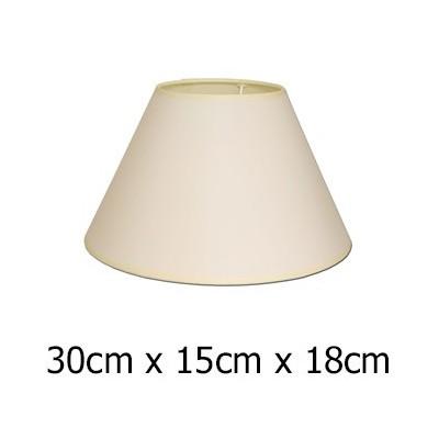Pantalla de lámpara con formato cónico en color beige de 30 cm