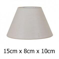 Pantalla para lámpara Neptuno cónica en tono piedra de 15 cm