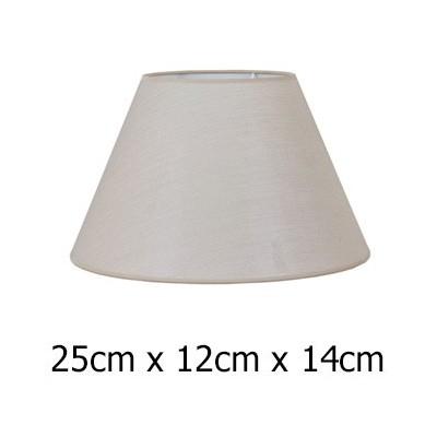 Pantalla lámpara cónica en color piedra de 25 cm