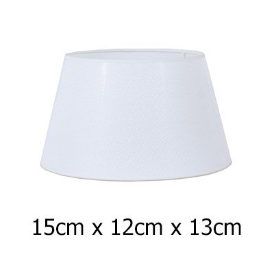 Pantalla lámpara tejido Neptuno en color blanco de 15 cm