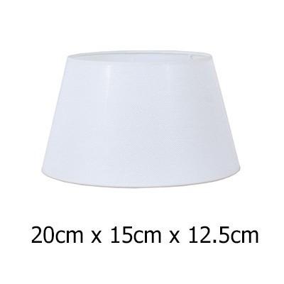 Pantalla para lámpara en blanco tejido Neptuno de 20 cm