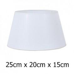 Pantalla de lámpara en tejido Neptuno color blanco de 25 cm
