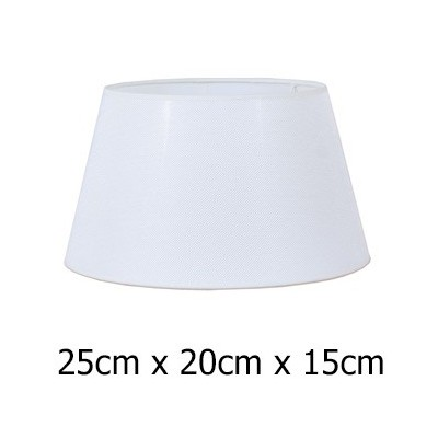 Pantalla de lámpara en tejido Neptuno de color blanco de 25 cm