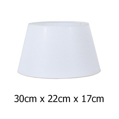 Pantalla de lámpara tejido Neptuno en color blanco de 30 cm