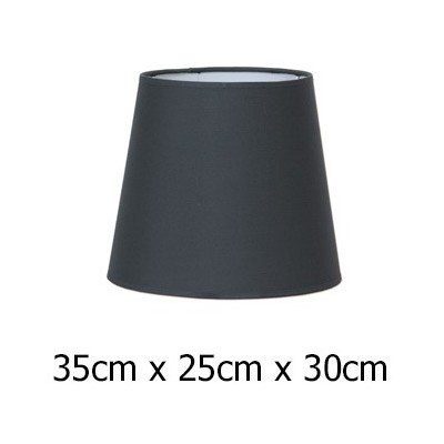 Pantalla para lámpara Cotonet en color plomo de 35 cm