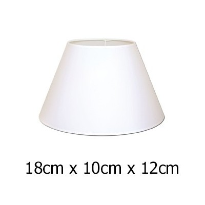 Pantalla de lámpara en color blanco con forma cónica de 18 cm