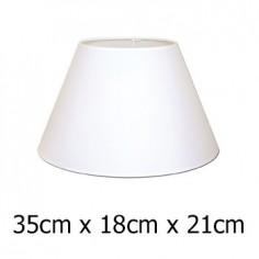 Pantalla para lámpara con forma cónica en color blanco de 35 cm