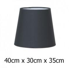 Pantalla para lámpara color plomo en tejido Cotonet de 40 cm
