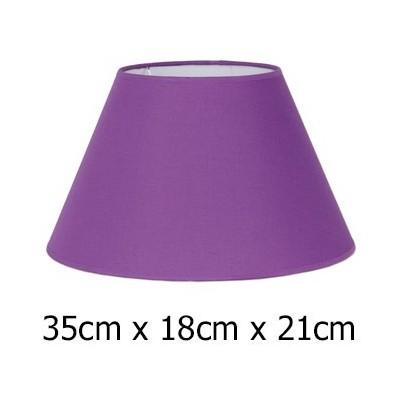 Pantalla para lámpara en morado de tejido Cotonet de 35 cm