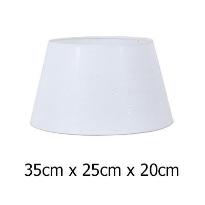 Pantalla para lámpara en color blanco de tejido Neptuno de 35 cm