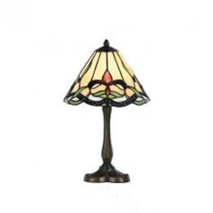 Lámpara Tiffany de sobremesa serie Clase con pantalla de cristal