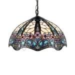 Lámpara colgante Tiffany Floral con pantalla de cristales de colores