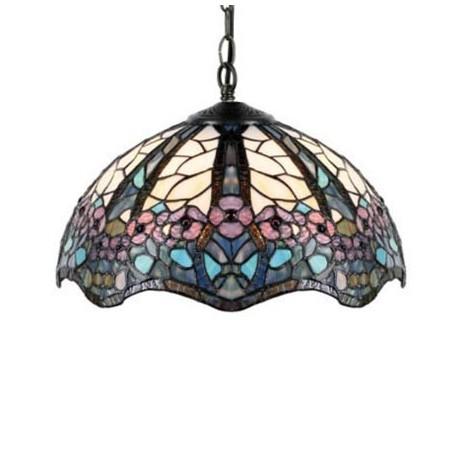 Comprar l mpara colgante tiffany floral con pantalla de - Cristales de colores para mesas ...