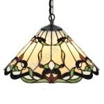Lámpara de techo Tiffany serie Clase pantalla cristales de colores